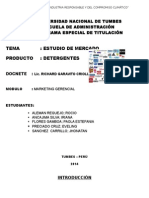 Estudio de Mercado en Detergentes TRABAJO GRUPAL