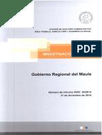 Informe Investigación Especial 35-14 Gobierno Regional Del Maule - Diciembre 2014