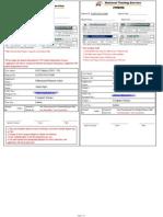 Deposit Slip Of GAT Subject Sample