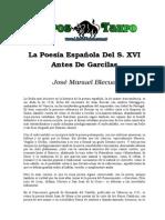 Blecua, Jose Manuel - La Poesia Española Del S XVI Antes de Garcilaso