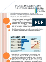 Bharti Infratel in race to buy Idea,.pptx