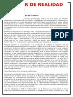 Recesión Económica en El Ecuador