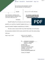 Timebase Pty Ltd v. Thomson Corporation, The - Document No. 21