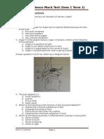 Form 2 Science Mock Test (Sem 1 Term 1)