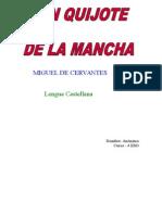 Informe - El Ingenioso Hidalgo Don Quijote de La Mancha , De Miguel de Cervantes Saavedera