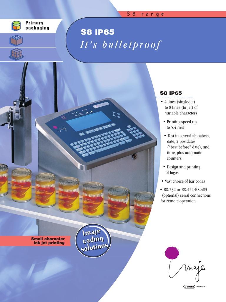 Imaje - s8 Ip65 Brochure Hq - s   Computer Keyboard   Printer (Computing)