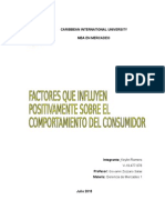 Factores Que Influyen Sobre El Comportamiento Del Consumidor Keylin Romero