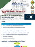 Auditoria de EE.ff en El Peru