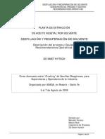 Destilación y Recuperación Por Solvente