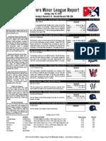 Minor League Report 15.07.19