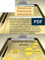 Narrativas pedagogicas