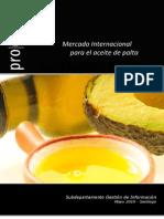 Mercado Internacional Aceite Palta Prochile Mayo