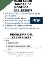 Formulacion Estandar de Modelos Establecidos