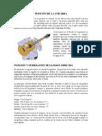 Posición de La Guitarra
