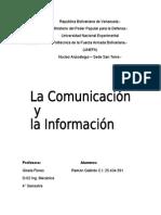 La Comunicacion y La Informacion