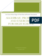 Algebraic Problems and Exercises for High School (Sets, sets operations, Relations, functions,  Aspects of combinatorics)