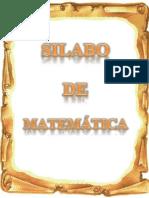 SÍILABO DE MATEMÁTICA