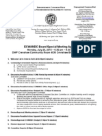 ECWANDC Board Special Meeting Agenda - June 20, 2015