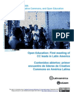 Open Education First Meeting of CC Leads in Latin America