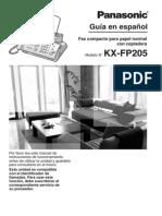 Manual de Fax Panasonic Kx-fp205