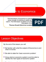 Introduction to Economics Including the Basic Conomic Problem