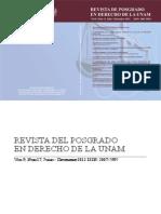 revista de derecho de posgrado unam
