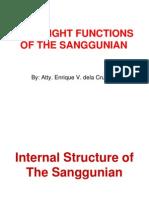 Oversight and Quasi-Judicial Functions of the Sanggunian