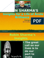 Robin Sharma's30 Insights for a Life of Acute Brilliance