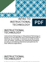 intro to instructional technology presentation