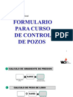Formulario Matematica Para Control de Pozos