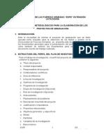 Normas Formulación Proyectos de Graduación Sept 2013 Vigencia