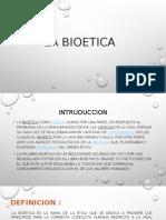 La Bioetica