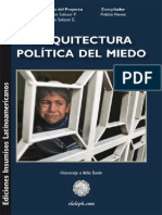 Salazar Perez Robinson. Arquitectura Politica Del Miedo.