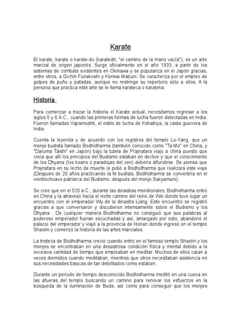 La Historia Del Karate by Masv