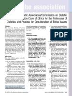 Dietetics Code of Ethics