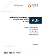 045 Measuring the Leading Indicators of OHS - A Snapshot Review