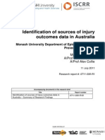 006 Identification of sources of injury outcomes data in Australia