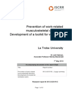 025 Prevention of work-related musculoskeletal disorders - Development of a toolkit for workplace users WMSD Toolkit
