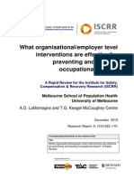 022 What organisational/employer level interventions are effective for preventing and treating occupational stress