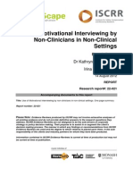 022 Use of Motivational Interviewing by Non-Clinicians in Non-Clinical Settings 2012