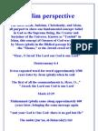Muslim perspective