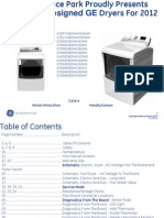 GE 2012 Dryer Training Service Manual