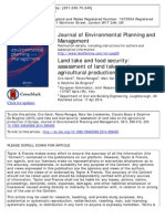 Land Take and Food Security OK