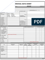 CSC Form 212 or PDS