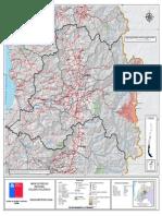 7. Región Metropolitana, Mapa de Riesgo, Variable de Riesgo Volcánica
