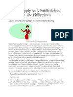 How to Apply as a Public School Teacher in the Philippines