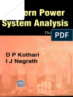 Modern Power Systems Analysis by d p Kotari