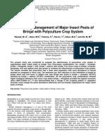 Eco friendly management of brinjal pest