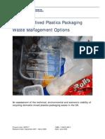 23. Plastic Packaging Waste Management Options - Wrap - Jun 08