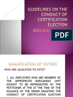 Guidelines on the Conduct of Certification Election